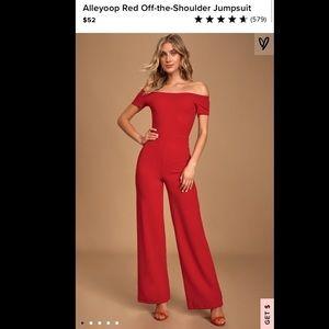 Lulu's Red Jumpsuit